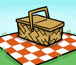 Picnic Table clipart picnic rug