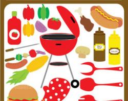 Barbecue Sauce clipart summertime