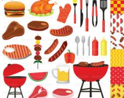 Picnic clipart barbecue party
