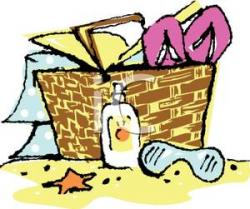 Picnic clipart beach picnic
