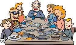 Diner clipart group dinner