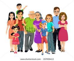 Larger clipart family portrait