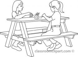 Bench clipart outline