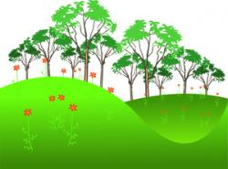 Feilds clipart hillside