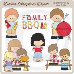 Picnic clipart family barbecue