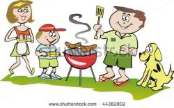 Picnic clipart family bbq
