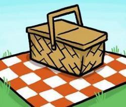 Picnic Basket clipart picnic rug