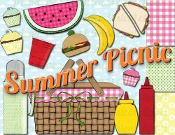 Picnic clipart summer picnic