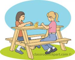 Lunch clipart bench