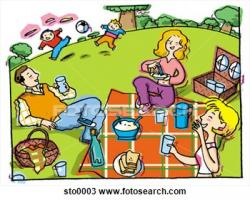 Picnic clipart weekend activity