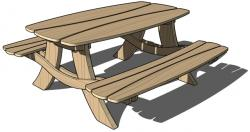 Bench clipart animated