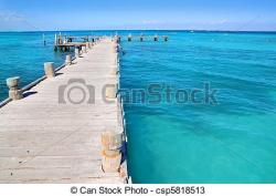 Pier clipart tropical