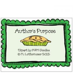 Pies clipart author's purpose