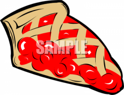 Pies clipart red cherry