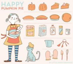 Pies clipart set objects