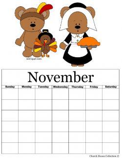 Thanksgiving clipart calendar