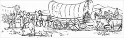 Pioneer clipart wagon train