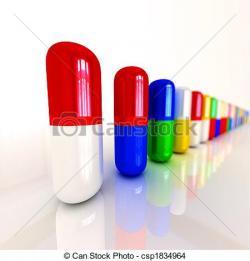 Pills clipart row