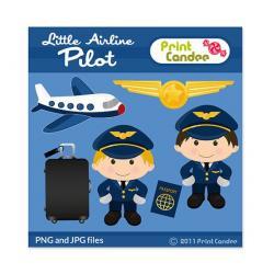 Pilot clipart air travel