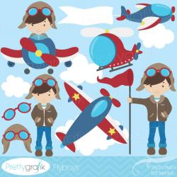 Pilot clipart airplane pilot