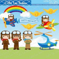Aviation clipart little pilot