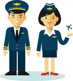 Pilot clipart male flight attendant