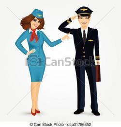 Steward clipart pilot uniform