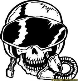 Pilot clipart skull