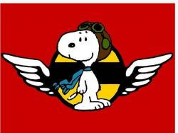 Snoopy clipart flying