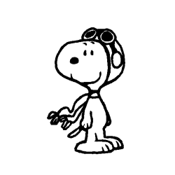 Snoopy clipart black and white
