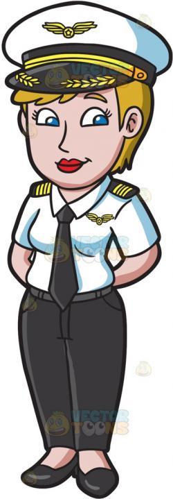 Pilot clipart woman pilot