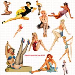 Pin Up  clipart