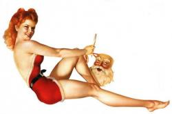Pin Up  clipart christmas card