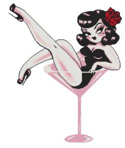 Pin Up  clipart martini glass