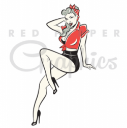 Pin Up  clipart rockabilly