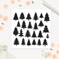 Rustic clipart pine tree