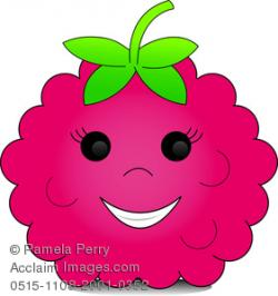 Raspberry clipart cute