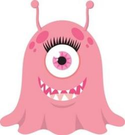 Pink Eyes clipart alien
