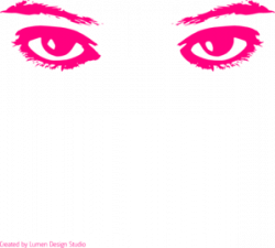 Pink Eyes clipart contact