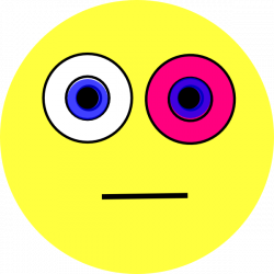 Pink Eyes clipart emoticon