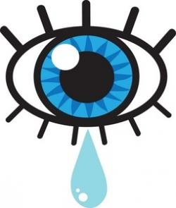 Tears clipart closed eye