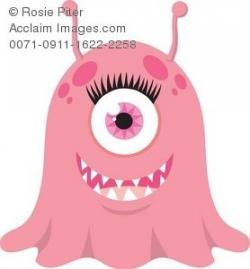 Pink Eyes clipart one eyed