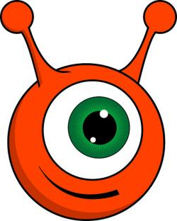 Pink Eyes clipart orange alien