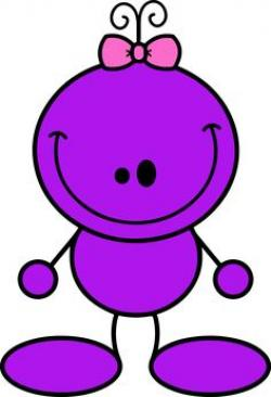 Pink Eyes clipart purple alien