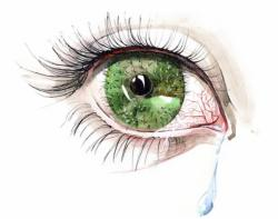Pink Eyes clipart sore eye