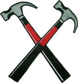 Pink Floyd clipart crossed hammers