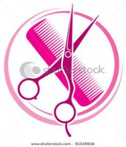 Pink Hair clipart haircut scissors