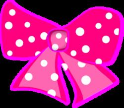 Pink Hair clipart pink polka dot