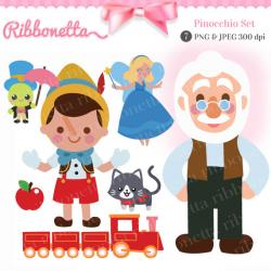 Pinocchio clipart cute