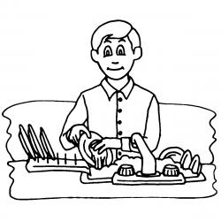 Pioneer clipart household chore